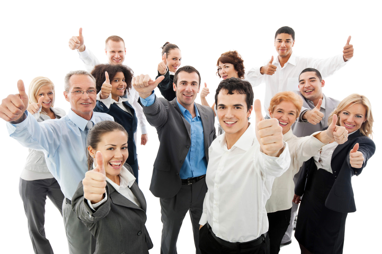 Gente contenta en el trabajo